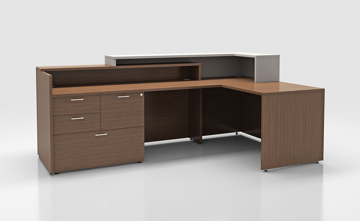 Reception desks office furniture solutions inc for Office furniture